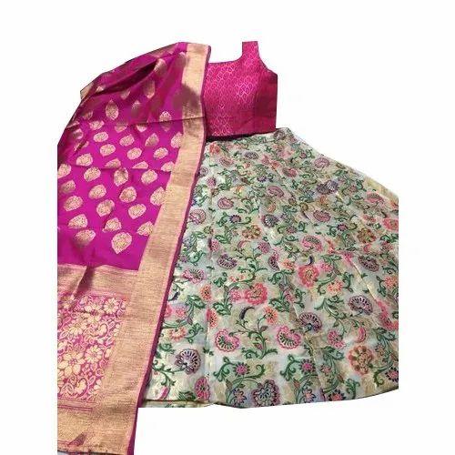 Semi-stitched Ladies Bridal Lehenga Choli