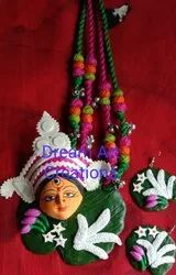 Beautiful Durga Clay Necklace