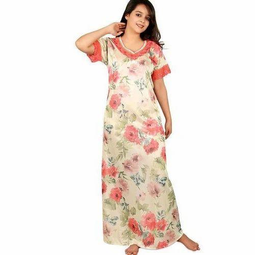 1e96c3e50e Nighties Full Length Printed Cotton Nighty, Rs 150 /piece | ID ...