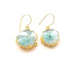 Natural Druzy Earrings