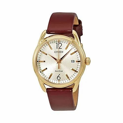 aa7abe9e1 Citizen Eco Drive Analog White Dial Women Leather Watch at Rs 4000 ...