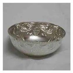 German Silver Round Bowl