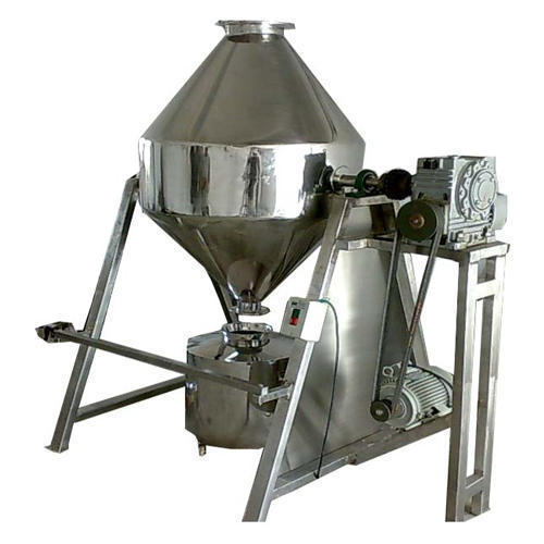 Salvin Stainless Steel Double Cone Blender, Capacity: 35kg per hour