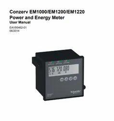 Three Schneider Energy Meter, for Industrial, Model Name/Number: Em1000