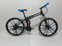 Black And Blue Land Rover Foldable Cycle
