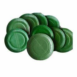 Green Printed Kela Patta Plates Raw Material, 350 Gsm, Packaging Type: Sheet