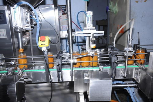 Automatic Pickle Bottle Filling Machine