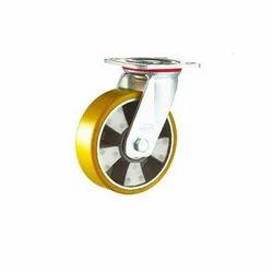 Yellow Double Ball Bearing Heavy Duty Caster Wheel
