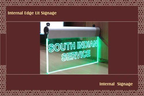 Internal Edge Lit Signage