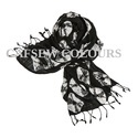 Black Cotton Slub Scarves