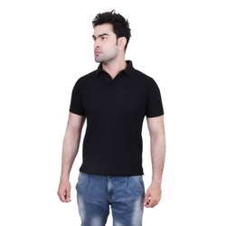 Male Half Sleeve Collar Polo Cotton T-Shirt
