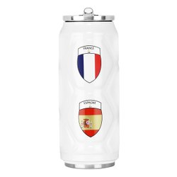 Caspian Vacuum Insulated SS Sports Sipper Bottle White, Capacity: 500ml