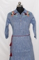 Ladies Cotton Chambray Embroidery Kurti