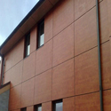 Brown HPL Wall Cladding Panel