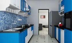 Modular Kitchen in Frosty White High Glossy