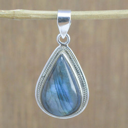 Labradorite Gemstone 925 Sterling Silver Jewelry Fine Pendant