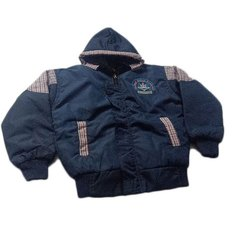 Micro Poly Casual Wear Blue Kids Jacket, 22-26 Inch