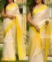 Yellow Linen Sarees
