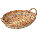Bamboo Oval Handle Basket