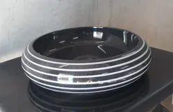 saudeep india Black Marble Counter Top Wash Basin, 16-18