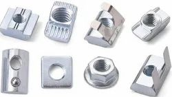 Juzer Hexagonal Hammer Nuts, T-Slot Nuts, Spring Nuts, For Industrial, Size: M6, M8