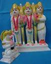 Marble Ram Parivar Statue