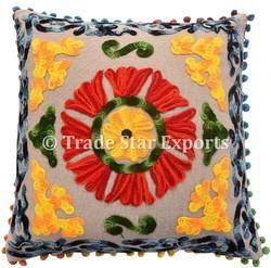 Square Suzani Cushion Cover
