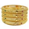 Beautiful Bridal Style Design Golden Plated Bangle Set for Women/Girls