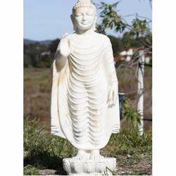Marble Standing Buddha Statue