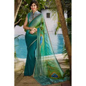 Hand Block Printed Georgette Saree