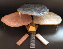 Resin Cake Stand With Server