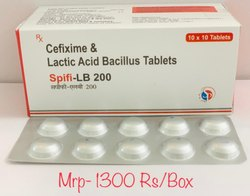 SPIFI -LB 200 Cefixime 200mg & Lactic Acid Tab, Packaging Type: Alu Alu