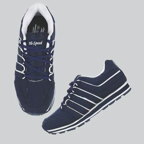 Hi-Speed Men Blue Sports Shoes, Size: 6