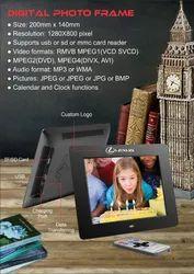 Balck Digital Photo Frame, Size: 200mm X 140mm