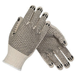PVC Double Side Dotted Hand Gloves