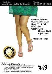 Shimmer Churidar Lycra Leggings, Size: L-2XL