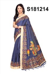 Multi Coloured Bhagalpuri Silk Sarees