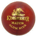 Bdm Kingfisher Match Red Leather Ball, Size: Men, 155-165 Gm