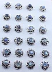 Designer Earring Studs Jewelry 925 Sterling Silver Labradorite Gemstone Ws-4668
