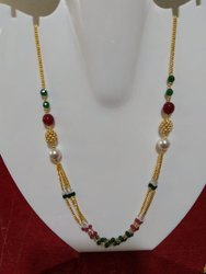 Necklace Attractive Gold Mala
