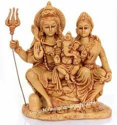 Resin Choki Shiv Family Statue God Idol Sculpture