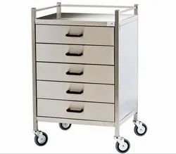 Stainless Steel Cupboard Trolley, for Hospital