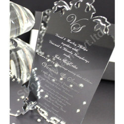 Silver Mirror Acrylic Wedding Invitation Sheet