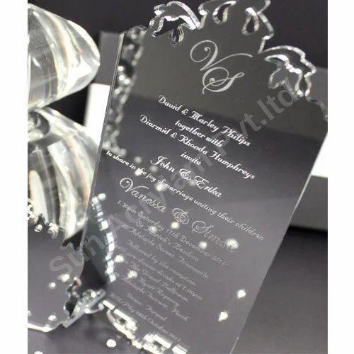 Silver Mirror Acrylic Wedding Invitation Sheet