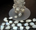 Natural White Rainbow Moonstone Beads