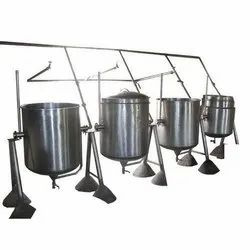 Steam Cooking Vessel, For Food Cooking, Capacity: 100 - 500 L
