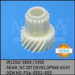 Gear , 16T 20T Developing Assy , IR 3300 / 2200 / 2800  FS6-0552-000