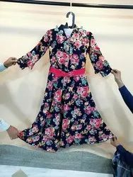 Cotton Full Sleeves Quality Guaranteed Latest Designer Ladies Frock