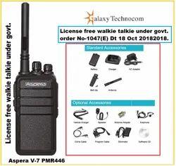 Aspera V-7 PMR446 License Free Walkie Talkie