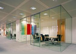 Plain Glass Partition